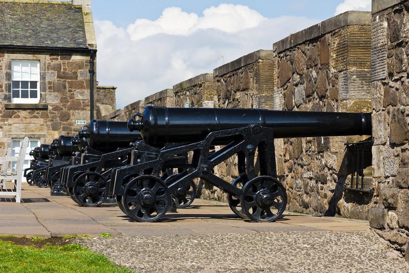 SCOTLAND-STIRLING-STIRLING CASTLE-CANNONS