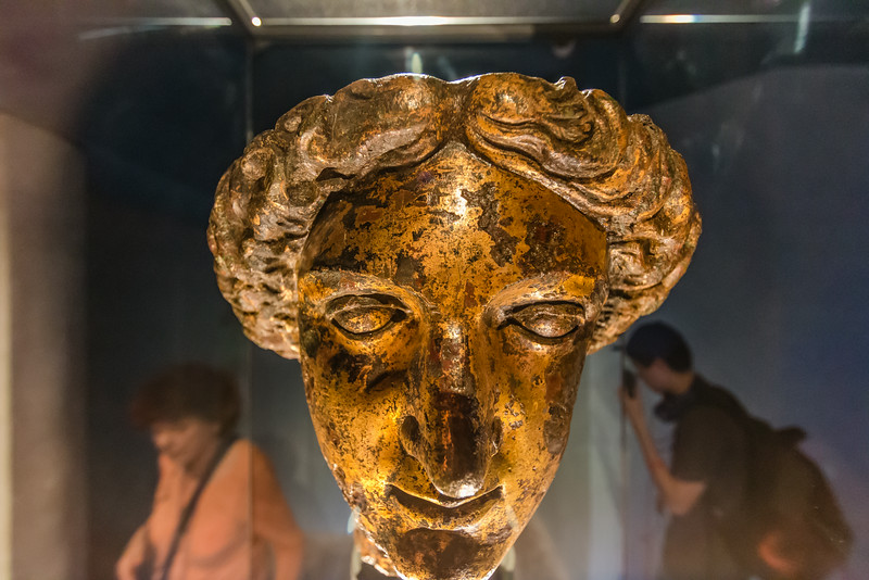 UK-BATH-ROMAN BATH-HEAD OF SULIS MINERVA