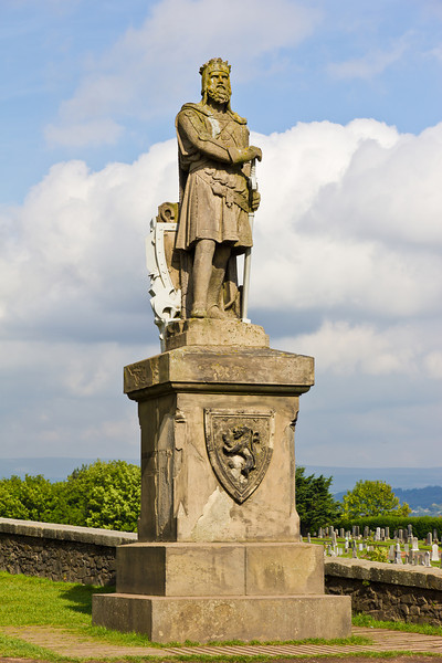 SCOTLAND-STIRLING-KING ROBERT THE BRUCE STATUE
