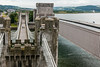 UK-WALES-CONWY-DOUBLE RAILROAD COVERED BRIDGE-SUSPENSION BRIDGE