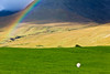 SCOTLAND-ISLE OF SKYE-GLENBRITTLE HOUSE-RAINBOW