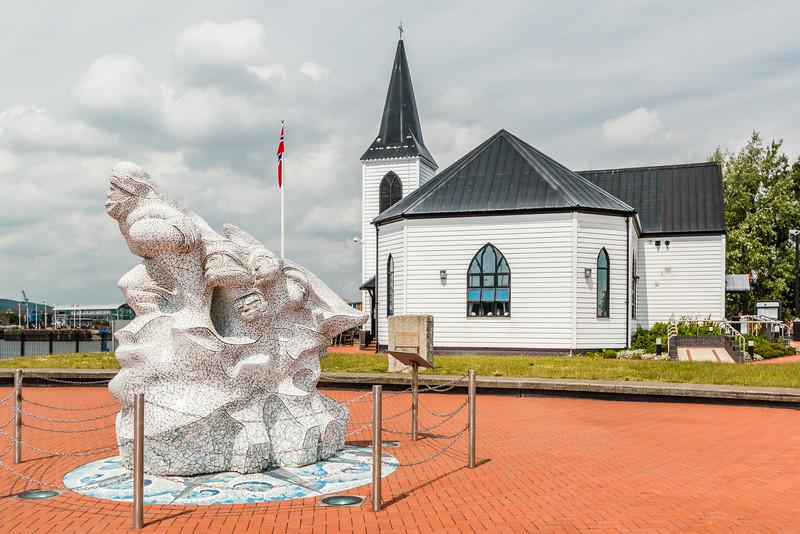 UK-WALES-CARDIFF-CARDIFF BAY-NORWEGIAN CHURCH
