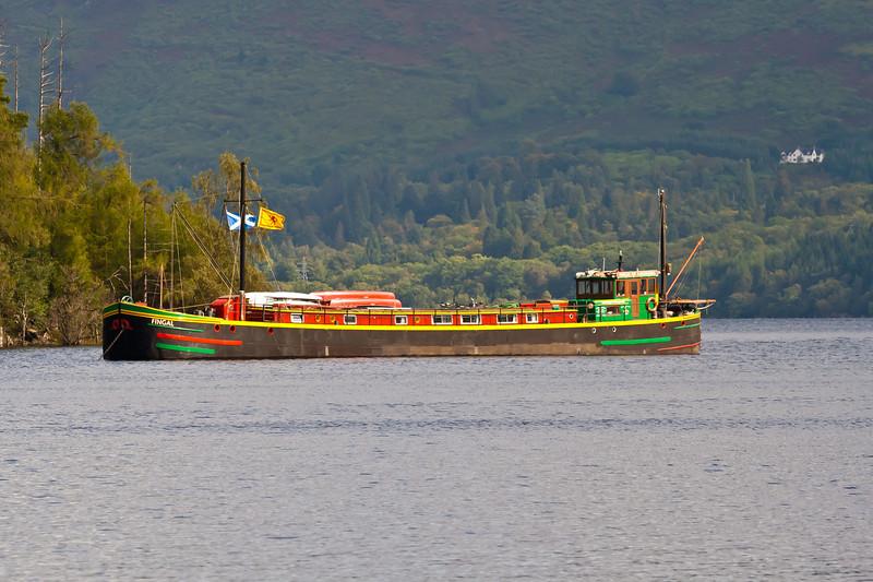 SCOTLAND-BUNARKAIG-LOCH LOCHY-SCOTISH CANAL BOAT