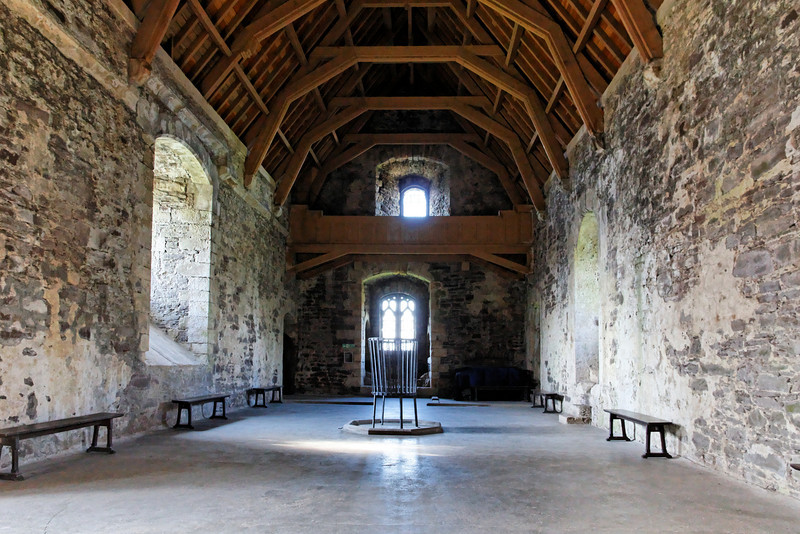 SCOTLAND-DOUNE-DOUNE CASTLE-GREAT HALL