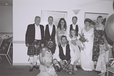 2004 Kenny Carols Wedding B&W - 01