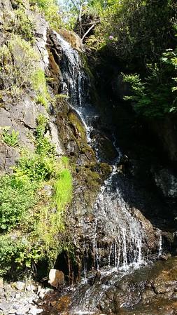 Dunvegan Castle garden waterfall