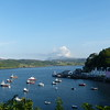 Hilltop view of Portree Harbor