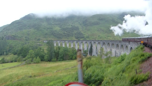 The Hogwart's Express crossing the now famous Glenfinnan Viaduct