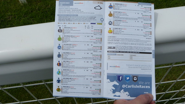 Racing program for 4th race at Carlisle racetrack
