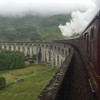 View of the now famous Glenfinnan Viaduct as seen from the Hogwart's Express steam train