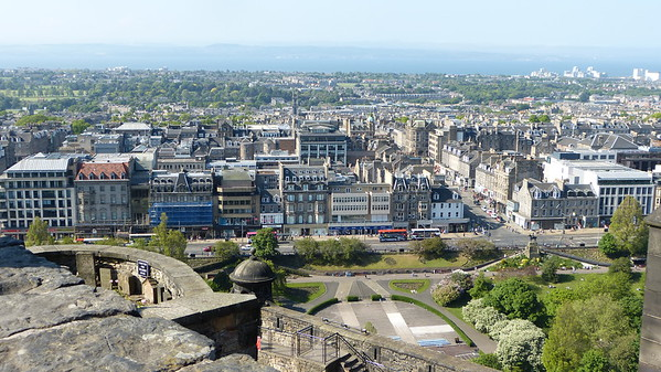 City view from Edinburgh Castle