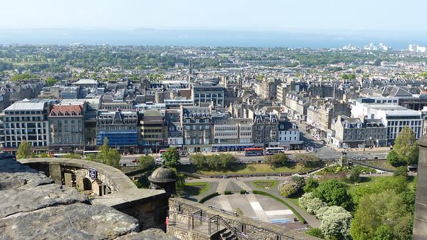 City view from Edinburgh Castle