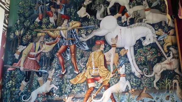 A tapestry inside Edinburgh Castle
