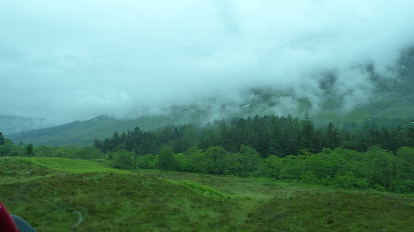 Scenic view from the Hogwarts Express