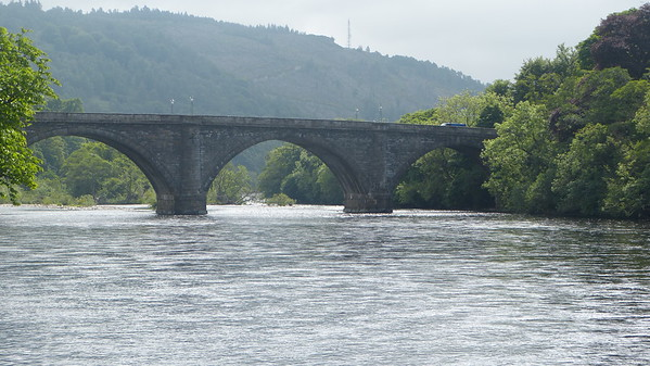 Stone bridge over river Tay