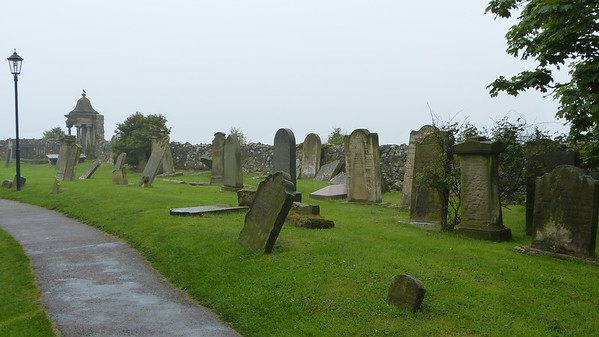 Cemetary at Lindisfarne Priory on Holy Island