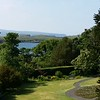 Dunvegan Castle garden view towards Loch Dunvegan