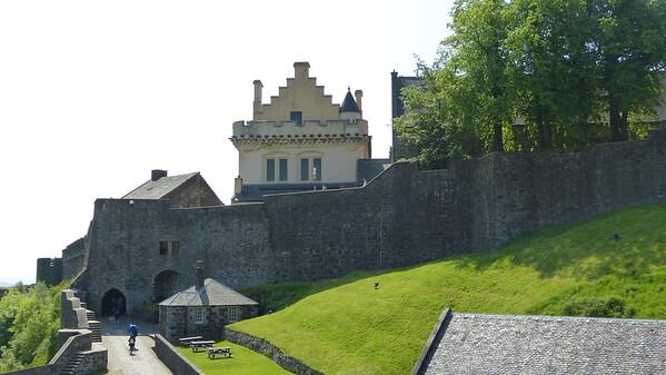 Inside grounds of Edinburgh Castle