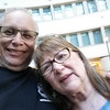 Me and Linda after dinner (I had a layover in Austin, TX))