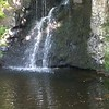 Dunvegan Castle garden waterfall