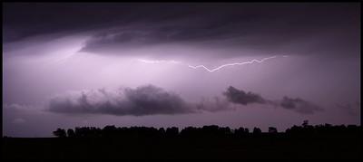 Nightime thunderstrom, Central Scotland