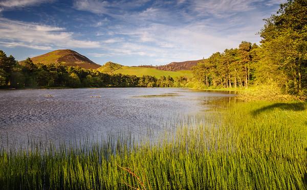 Eildon Hill in the Scottish Borders