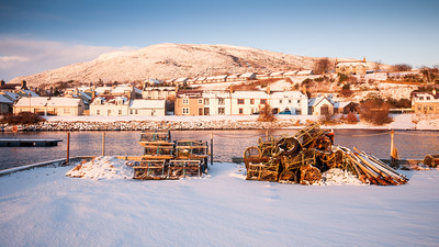 Helmsdale Harbour in the snow