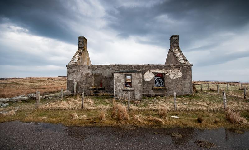 Ruined cottage in remote Scottish Highlands