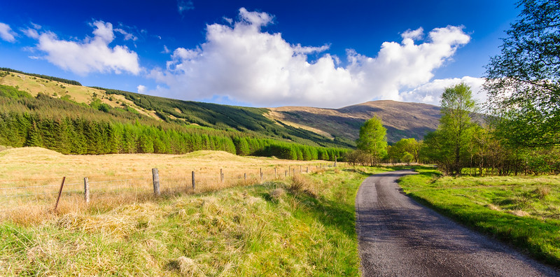 The road in Glen Orchy