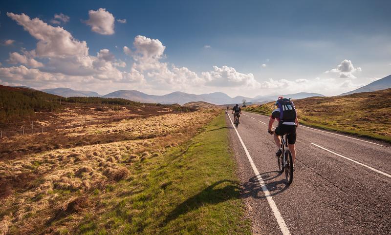 Cycling on Rannoch Moor
