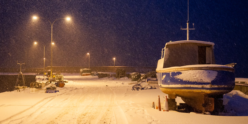 Snow at Helmsdale Harbour