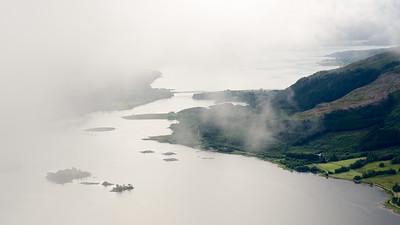 Low cloud on Loch Leven