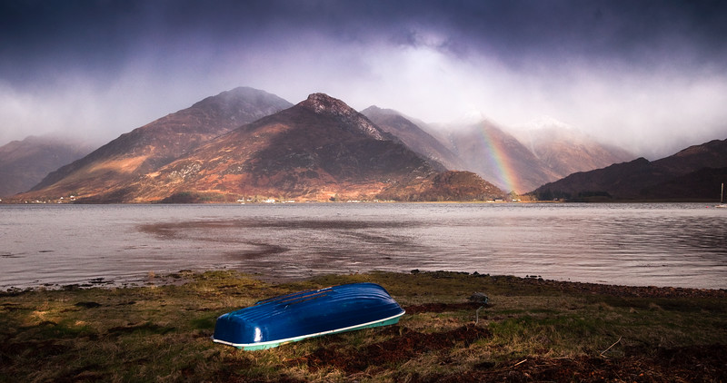 Storm hits the Five Sisters of Kintail