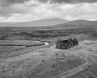 Lubnaclach Cottage on Rannoch Moor