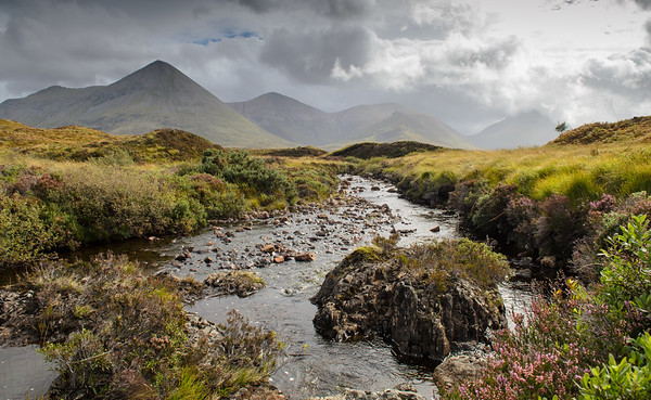 Mountain stream in Scottish Highlands