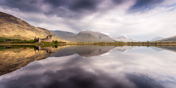 Kilchurn Castle reflected in Loch Awe