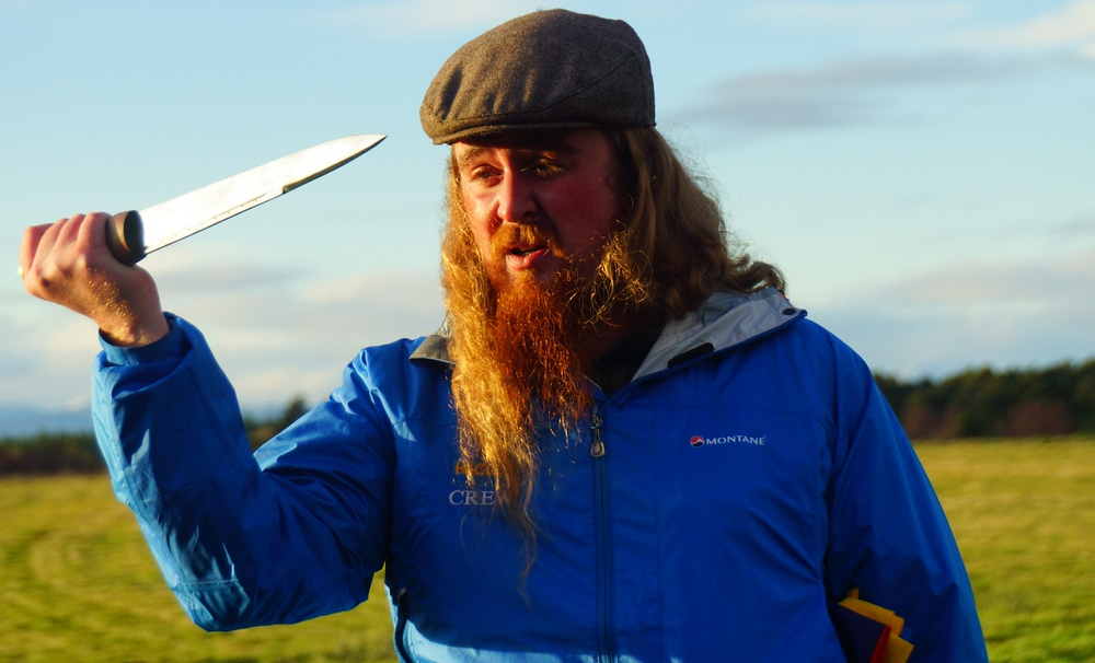 Our Haggis Adventures guide Dave at Culloden