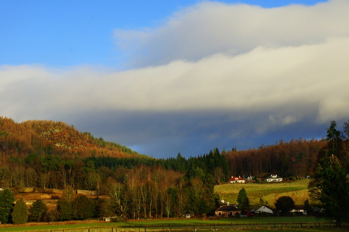 The town of Dunkeld in the Scottish countryside.