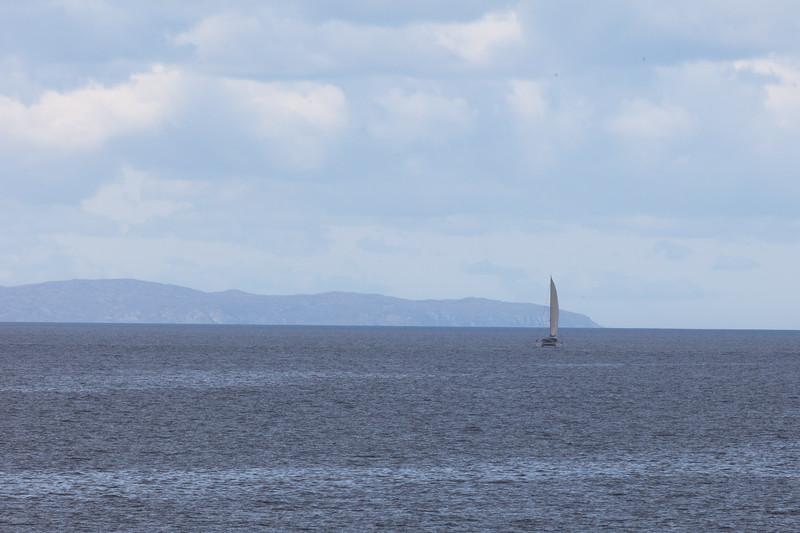 A catamaran in the Little Minch
