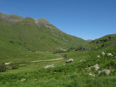 Steall Meadows towards Corrour
