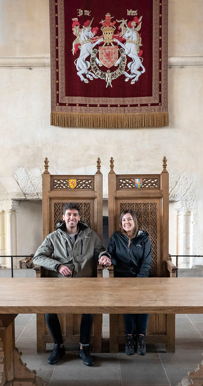 Stirling Castle - The Great Hall - Chairs of the king and queen
