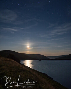 Scottish Borders - Moonrise over Megget