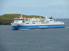 Northlink Ferries HAMNAVOE approaches Scrabster from Stromness - August 15, 2011