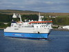 Northlink Ferries HAMNAVOE departs from Scrabster Harbour bound for Stromness - August 15, 2011