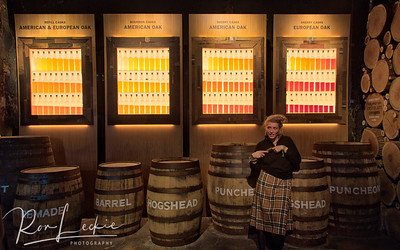 "Glengoyne: The best visual display of the whisky aging process and the impact of the ""Angel's Share""."