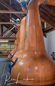 Benriach:  The Pot Stills where alcohols are distilled from the Wash.