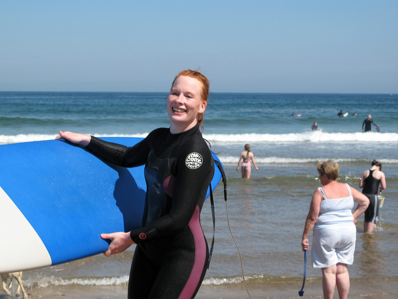 Vicky after the first round of surfing