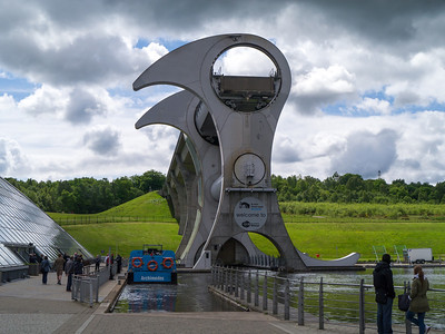 The Falkirk Wheel (almost with some sun)