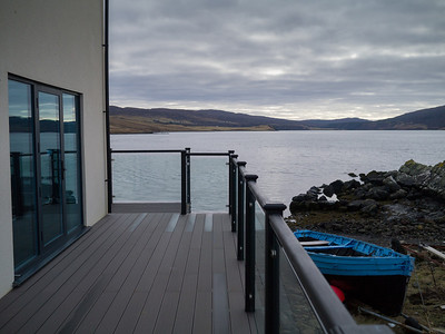 View of the house with the Loch behind