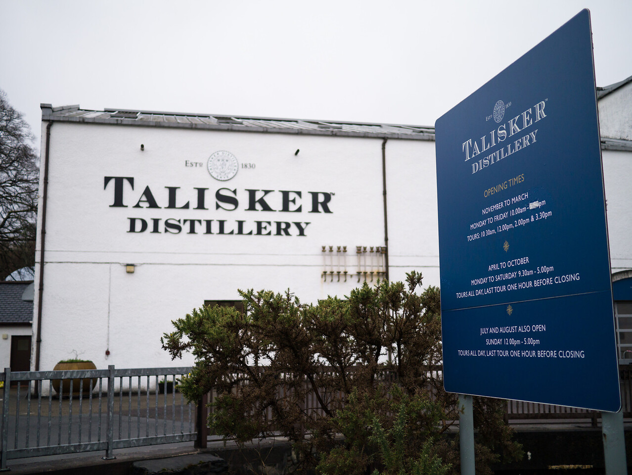 Outside of the Talkisker Distillery